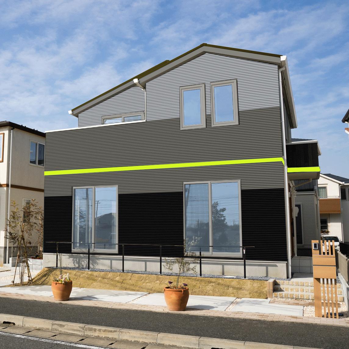 おしゃれ外壁シミュレーション 写真例1エアマックス
